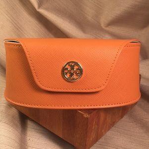 Tory Burch orange sunglasses' case